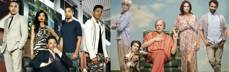Elenco de Empire (FOX) e Transparent (Amazon).