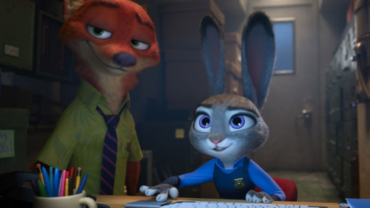 ZOOTOPIA – Pictured (L-R): Nick Wilde, Judy Hopps. ©2016 Disney. All Rights Reserved.