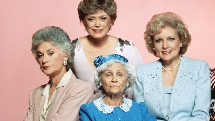 Elenco de Golden Girls (NBC) na primeira temporada da série.